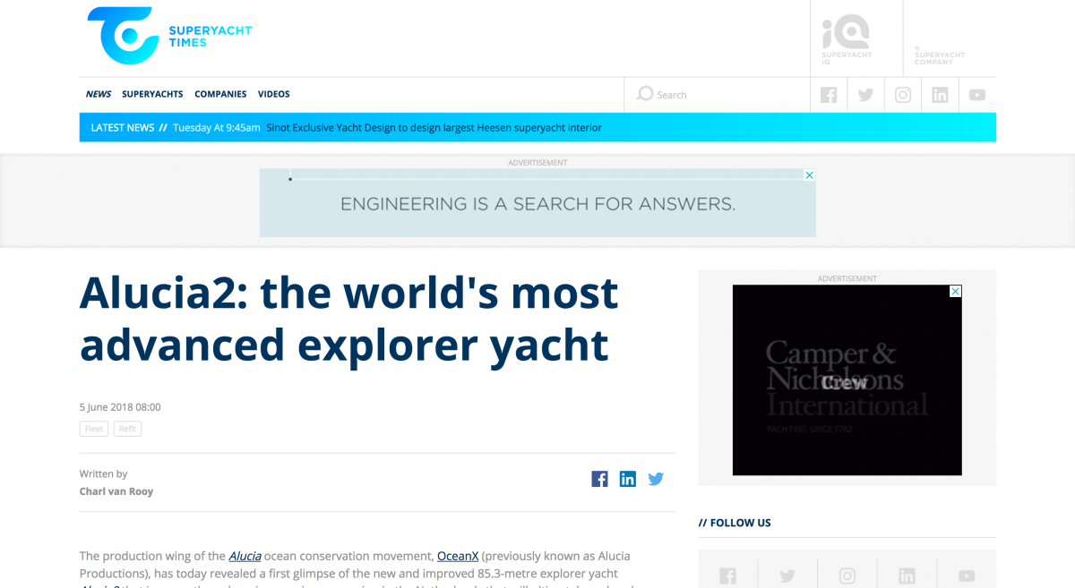 News image for Superyacht Times: The world's most advanced explorer
