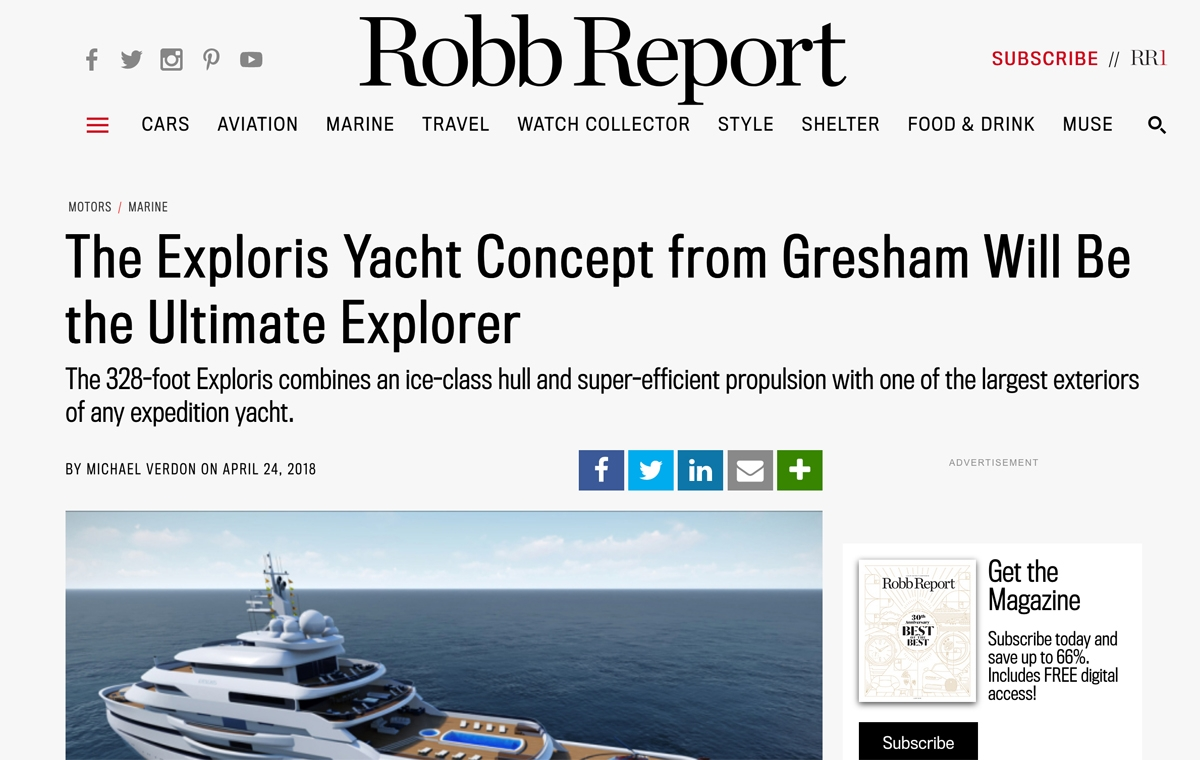 News image for Robb Report declares Exploris as the Ultimate Explorer