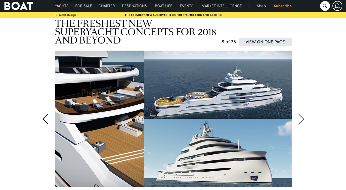 Boat International's list of fresh new superyacht concepts image