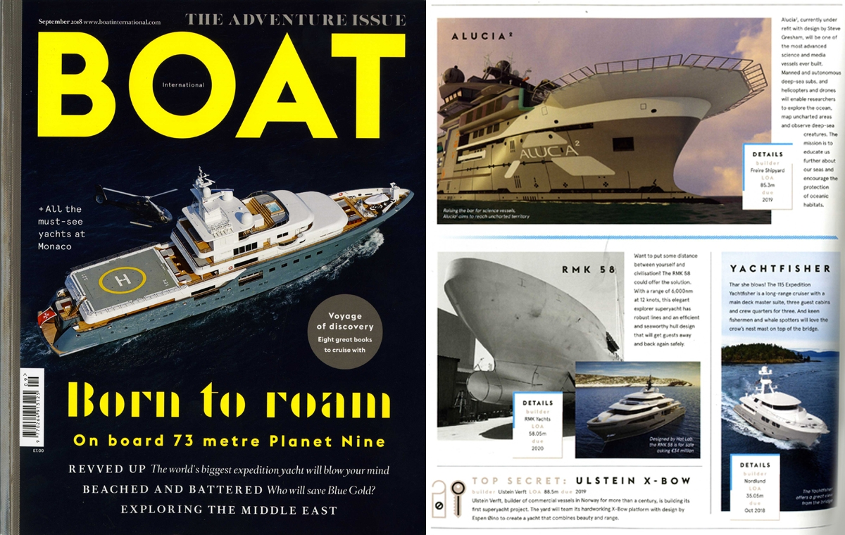 News image for Alucia2 makes it onto the pages of Boat International