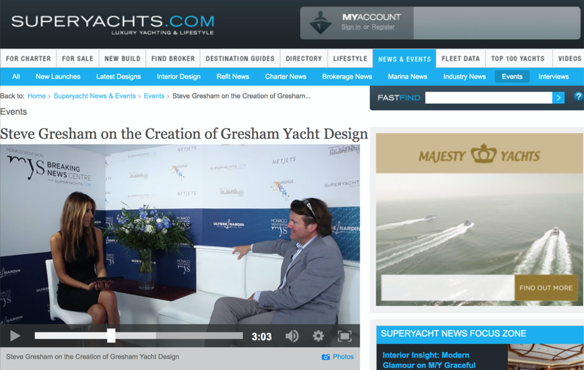 News image for Steve Gresham speaks to Superyachts.com