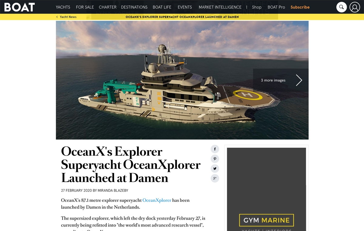 News image for OceanX's Explorer OceanXplorer Launched at Damen