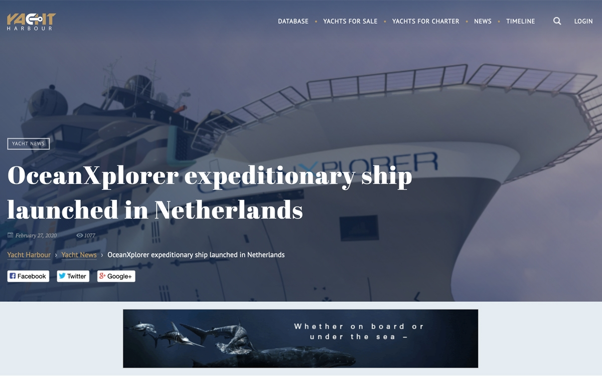 News image for Yacht Harbour discusses the launch of OceanXplorer