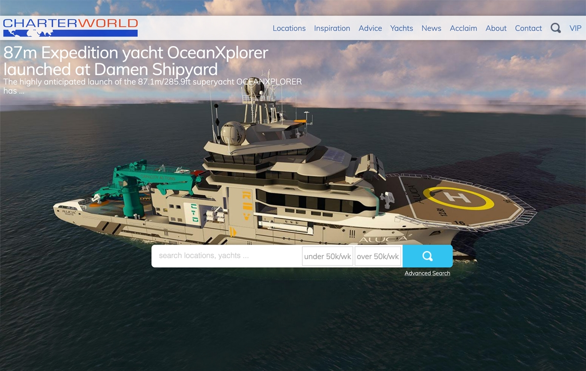 News image for Charter World talks about the launch of OceanXplorer