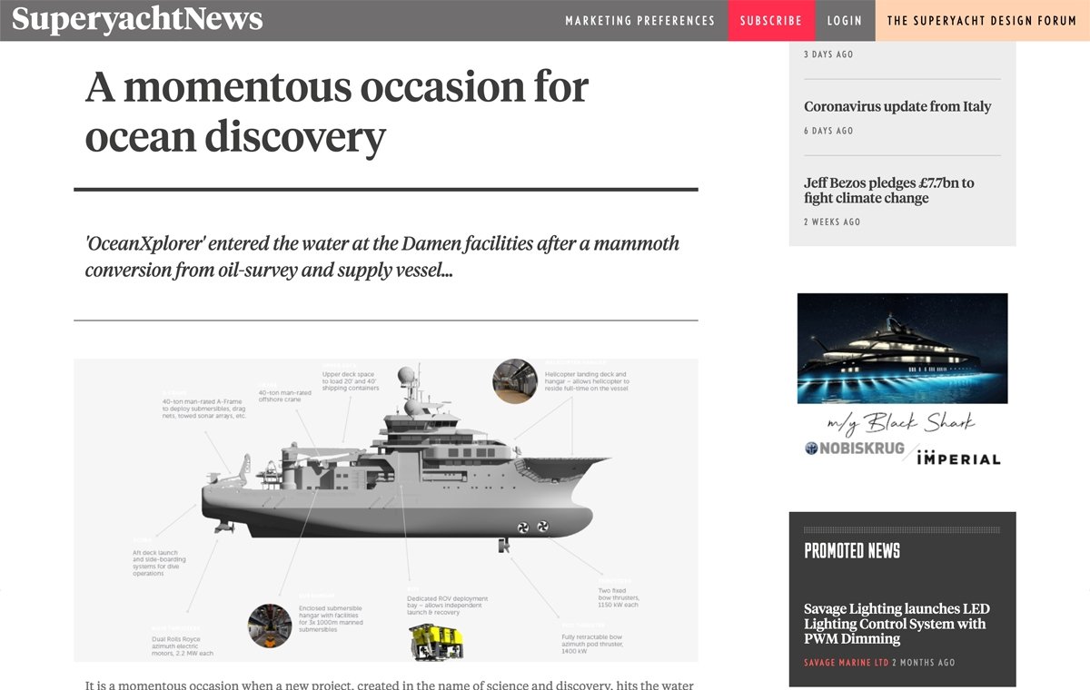 News image for A momentous occasion for ocean discovery