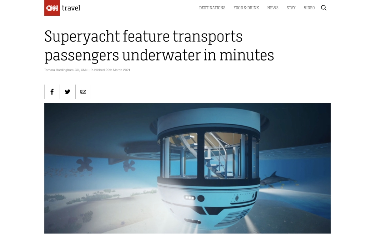 News image for CNN: Superyacht feature transports passengers underwater in minutes