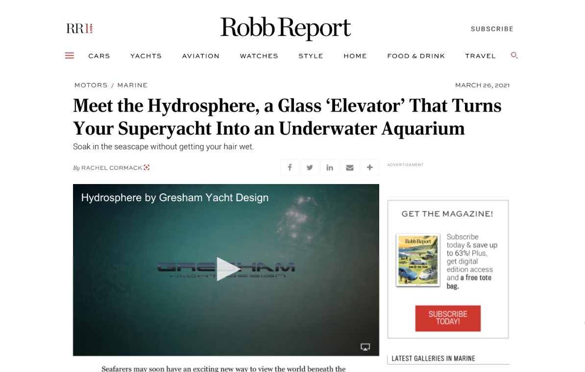 News image for Robb Report: Willy Wonka's underwater glass elevator