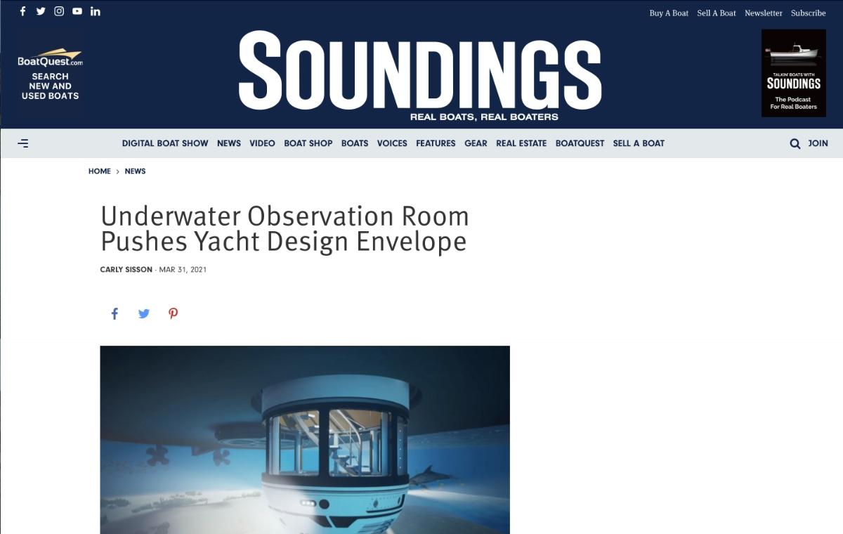 News image for Observation Room Pushes Yacht Design Envelope